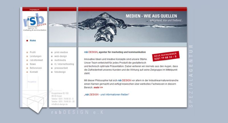 Website, RSB, Design, Werbeagentur