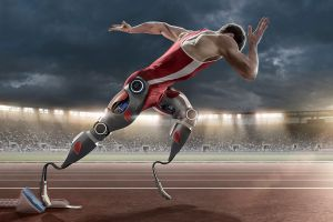 Men's Track, Artificial, Sports Race, Track And Field Athlete, Disabled Athlete, Dramatic Sky, Sports Track, Cyborg, Wired, Physical Impairment, One Man Only, Only Men, Mid-Air, Prosthetic Equipment, Sports Training, Amputee, Floodlit, Track Starting Block, Robot, Starting Line, Machine Part, Running, Exercising, Sprinting, One Person, Strength, Conquering Adversity, Challenge, Rivalry, Competition, Futuristic, Speed, Concepts, Sport, Technology, Science, Outdoors, Competitive Sport, Track Event, Track And Field, Human Leg, Human Limb, The Human Body, Muscular Build, Branch, Stadium, Machinery, Sportsman